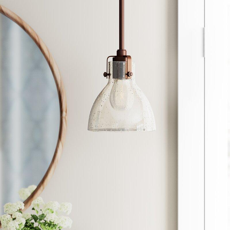 Goldie 1 Light Single Bell Pendant In 1 Light Single Bell Pendants (Image 10 of 25)