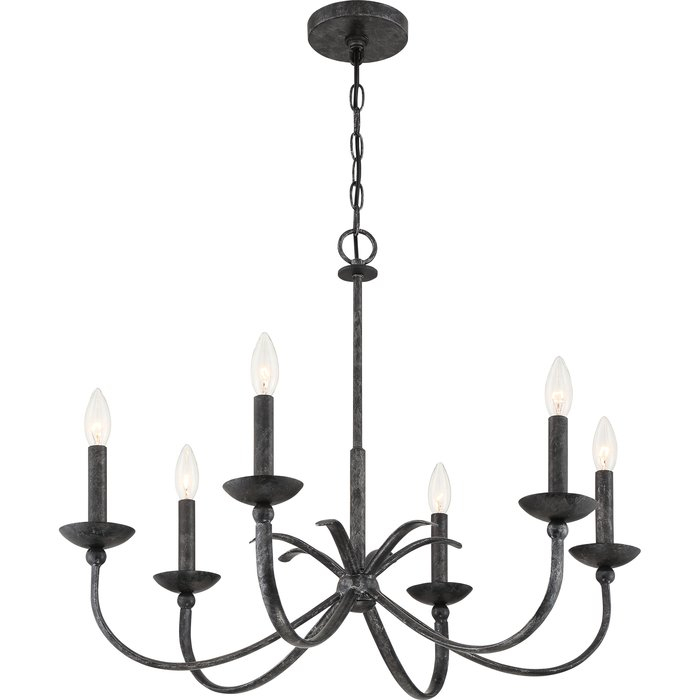 Goodin 6 Light Candle Style Chandelier Pertaining To Perseus 6 Light Candle Style Chandeliers (View 14 of 20)