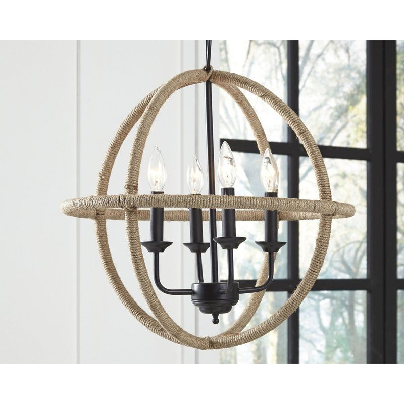 Gose 4 Light Globe Chandelier In 2019 | Lake House Ideas Inside La Barge 3 Light Globe Chandeliers (View 19 of 20)