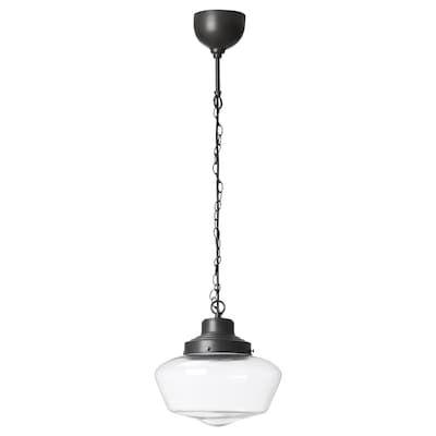 Gothem / Jakobsbyn Pendant Lamp – Dark Gray, Smoked – Ikea In Gattilier 3 Light Cluster Pendants (View 9 of 25)