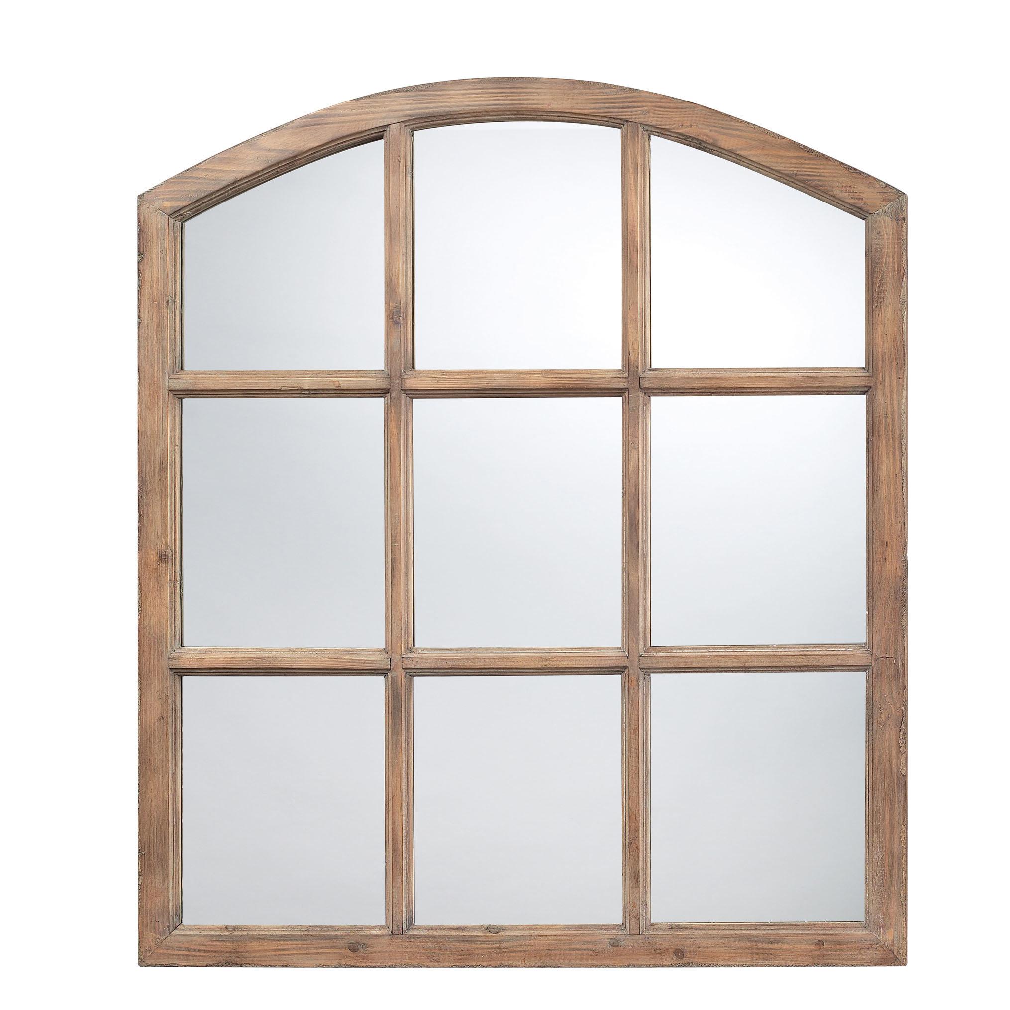 Gracie Oaks Jannel Faux Light Oak Wood Wall Mirror | Wayfair Intended For Faux Window Wood Wall Mirrors (View 6 of 20)
