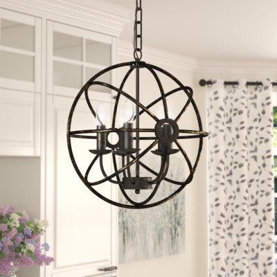 Gracie Oaks Leung 5 Light Chandelier | Products | 5 Light Intended For Waldron 5 Light Globe Chandeliers (Image 5 of 20)