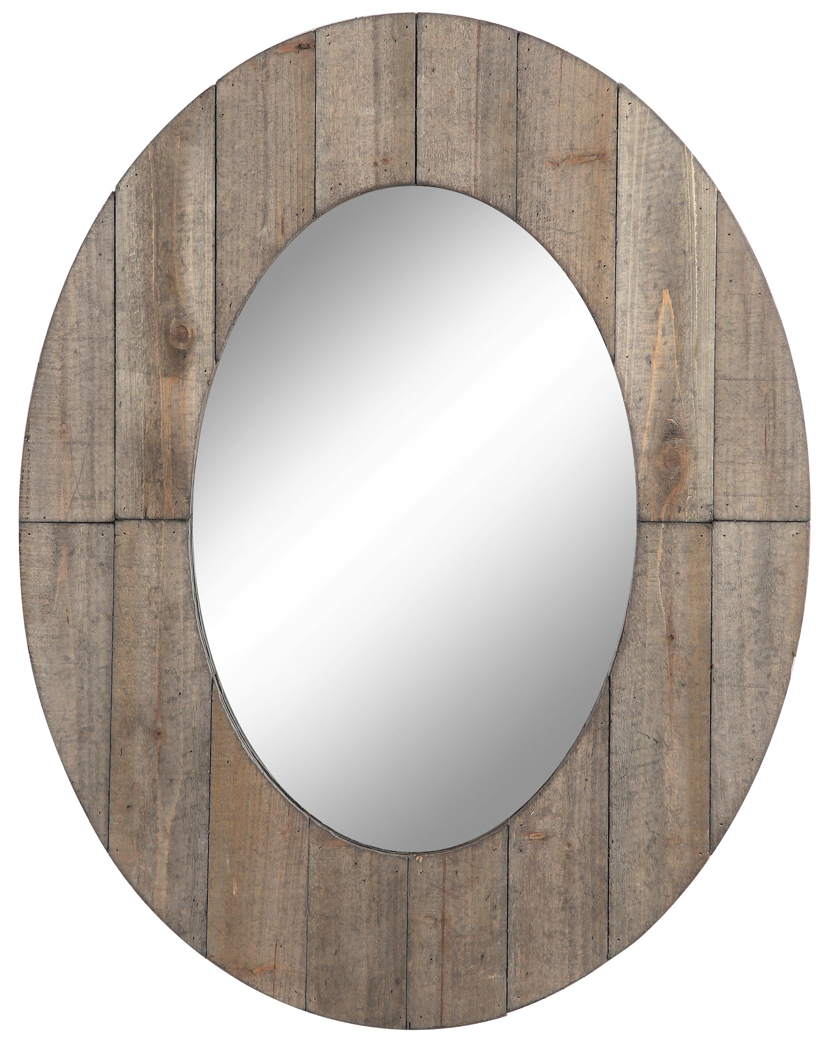 Gracie Oaks Newson Oval Wall Mirror With Pfister Oval Wood Wall Mirrors (Image 5 of 20)