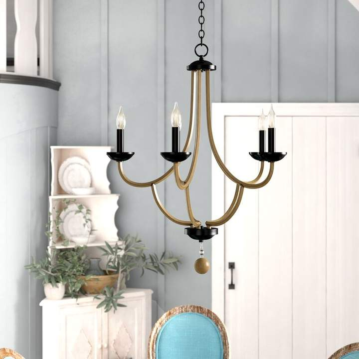 Gracie Oaks Winget 5 Light Candle Style Chandelier In 2019 Within Berger 5 Light Candle Style Chandeliers (View 11 of 20)
