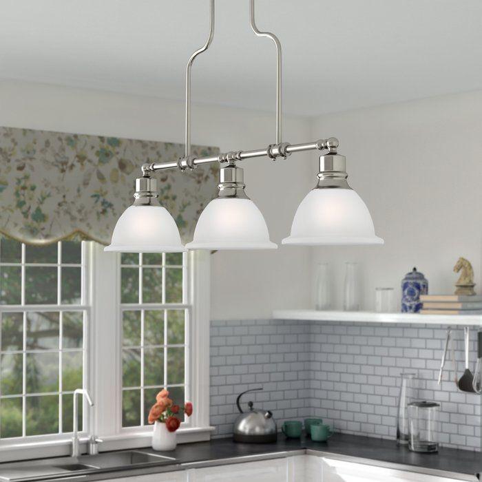 Gradall 3 Light Kitchen Island Pendant | Sandie | Kitchen Regarding Dunson 3 Light Kitchen Island Pendants (View 7 of 25)