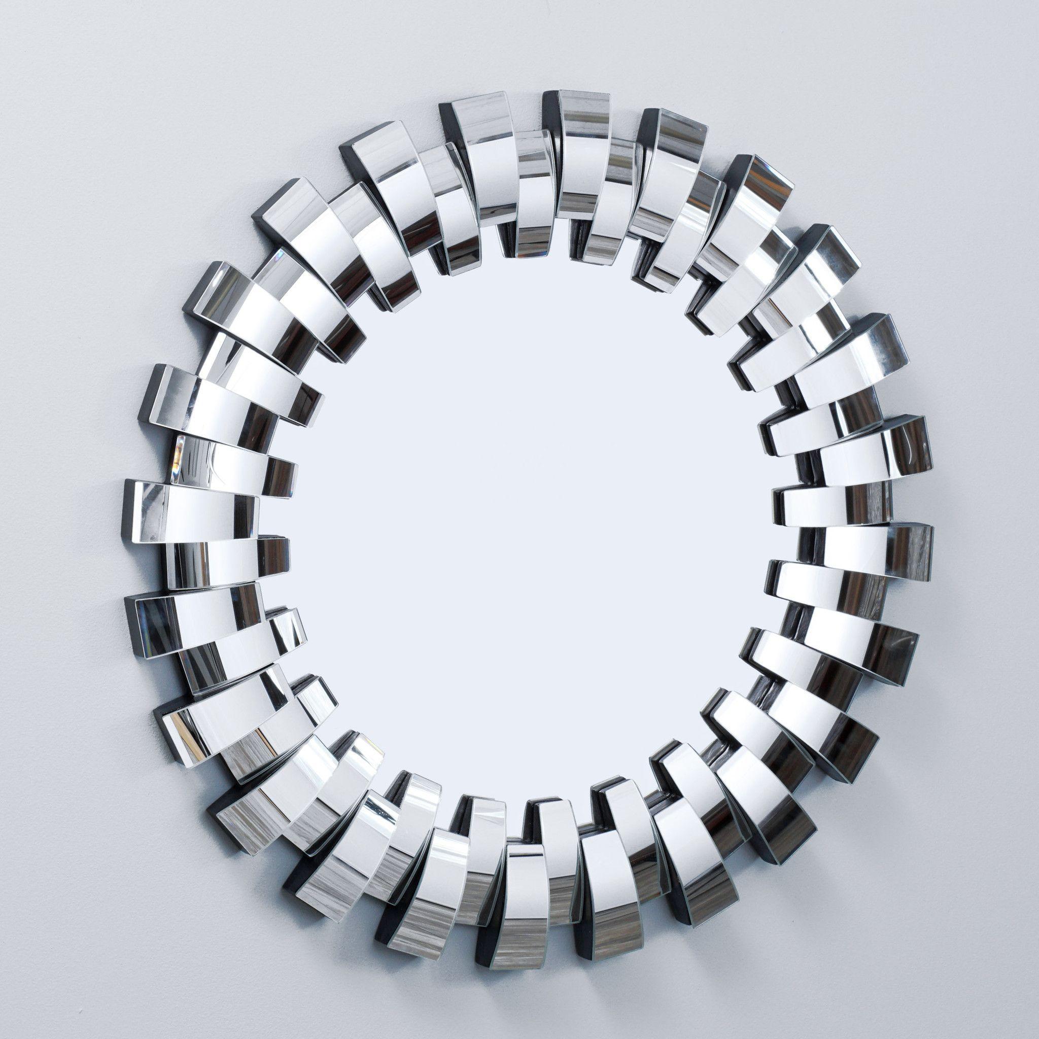 Grande Round Curved Mirror | Fav In 2019 | Home Decor Regarding Deniece Sunburst Round Wall Mirrors (Image 8 of 20)