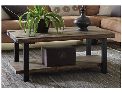 Gray Barn Michaelis Natural Rustic Coffee Table Reclaimed Aged Brown Wood  Metal In Carbon Loft Kenyon Natural Rustic Coffee Tables (Image 13 of 25)