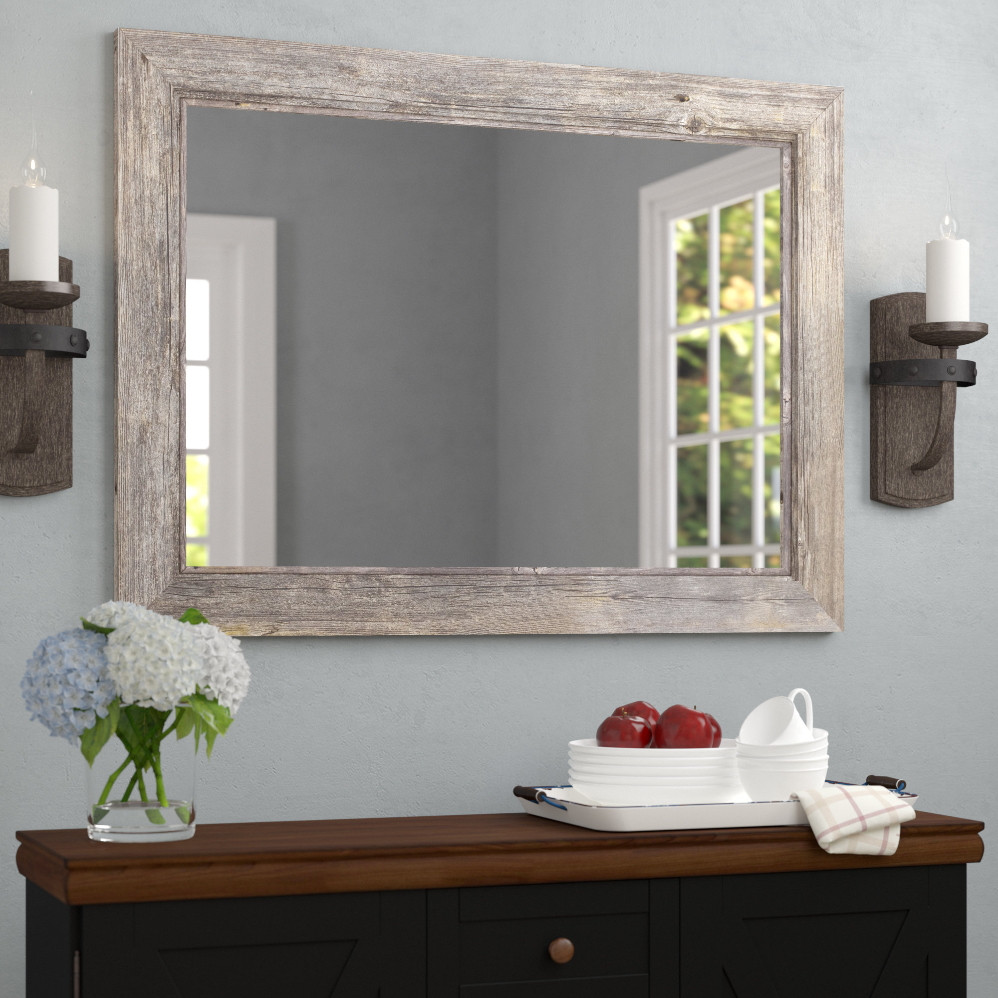 Gray Wood Mirrors You'll Love In 2019 | Wayfair Intended For Polito Cottage/country Wall Mirrors (Image 8 of 20)