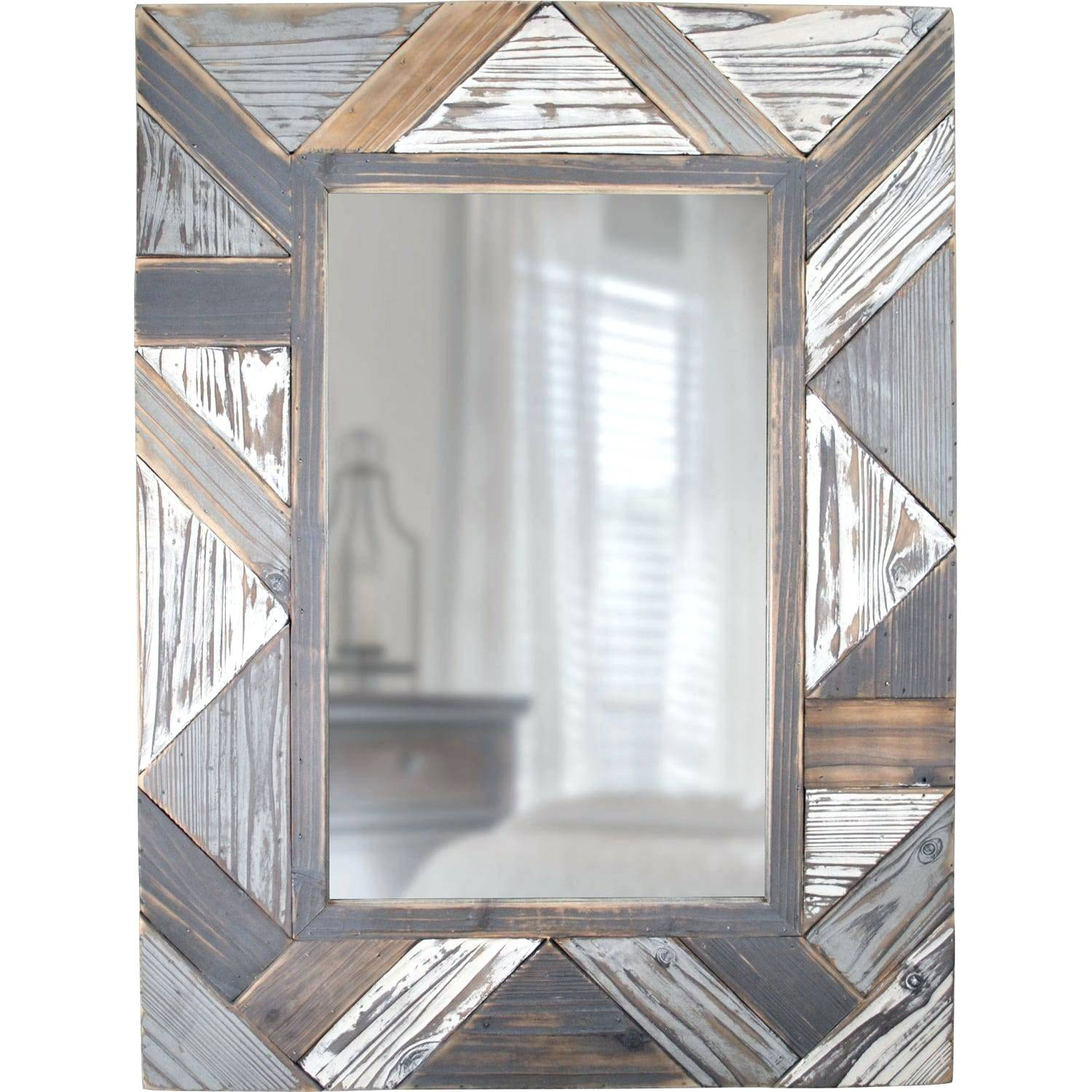 Gray Wood Wall Mirror – Fefisbaby Regarding Booth Reclaimed Wall Mirrors Accent (Image 6 of 20)