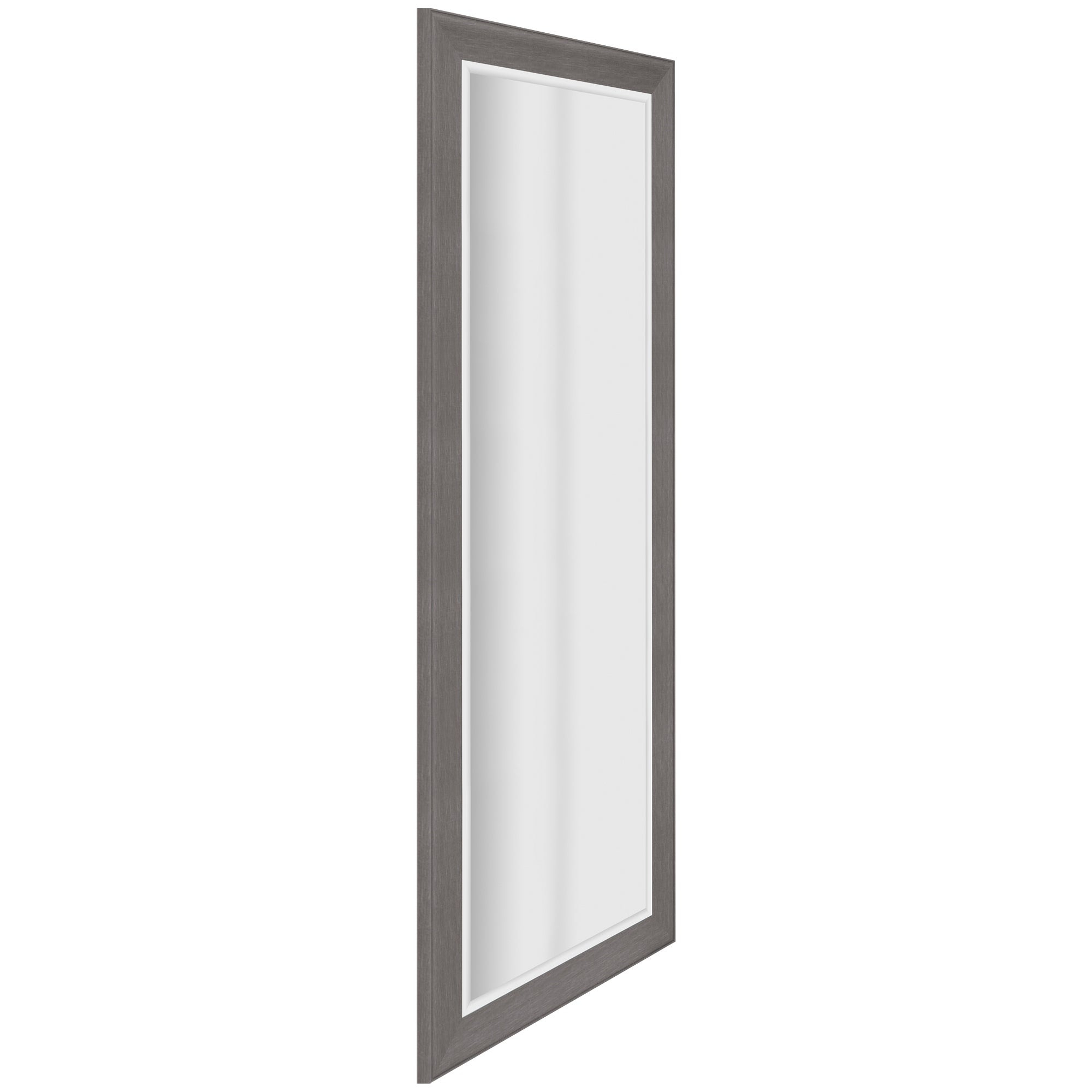 Graywash Woodgrain Framed Beveled Accent Wall Mirror – Grey Throughout Farmhouse Woodgrain And Leaf Accent Wall Mirrors (View 9 of 20)