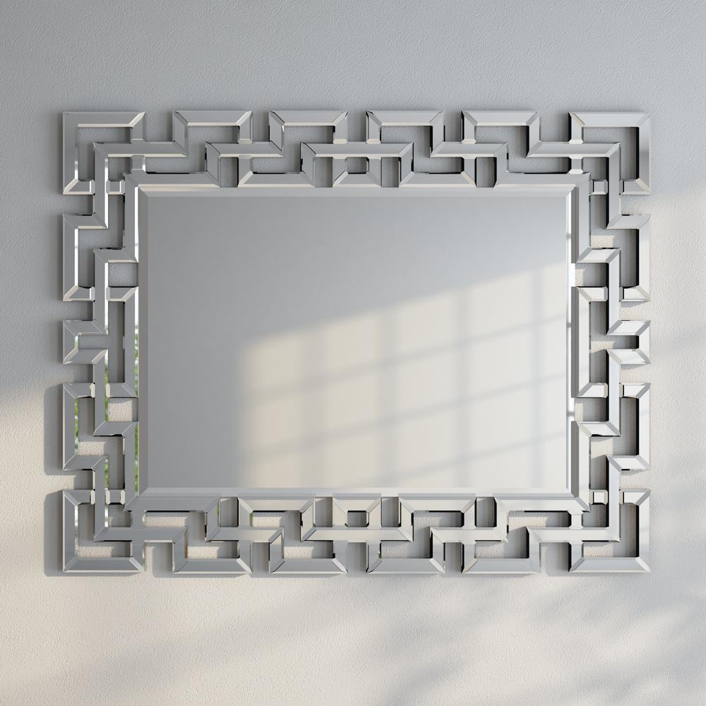Greek Key Motif Mirror In 2019 | Products | Greek Decor Pertaining To Caja Rectangle Glass Frame Wall Mirrors (View 8 of 20)