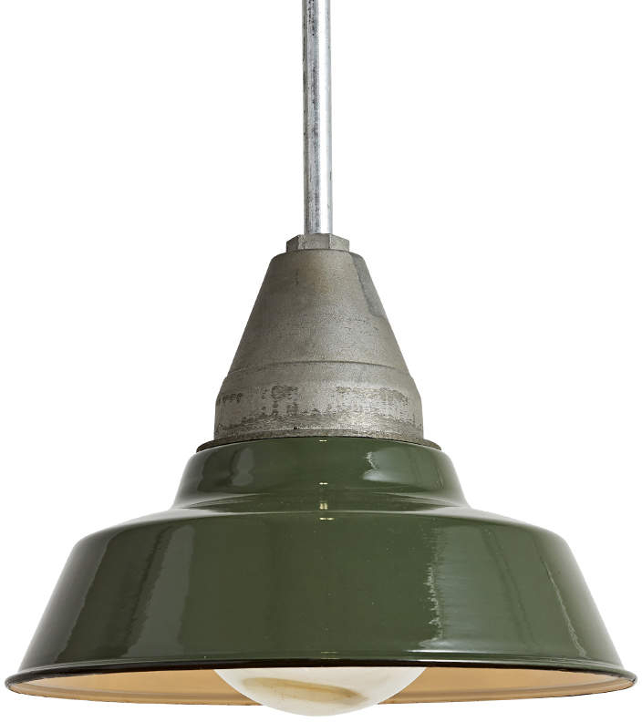 Green Industrial Pendant Inside Amara 3 Light Dome Pendants (View 17 of 25)