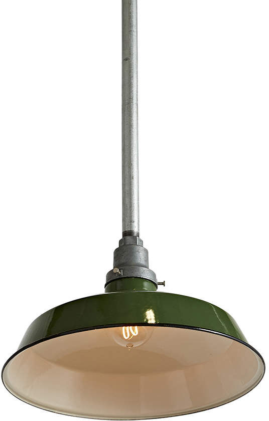 Green Industrial Rlm Pendant With Regard To Amara 3 Light Dome Pendants (View 19 of 25)