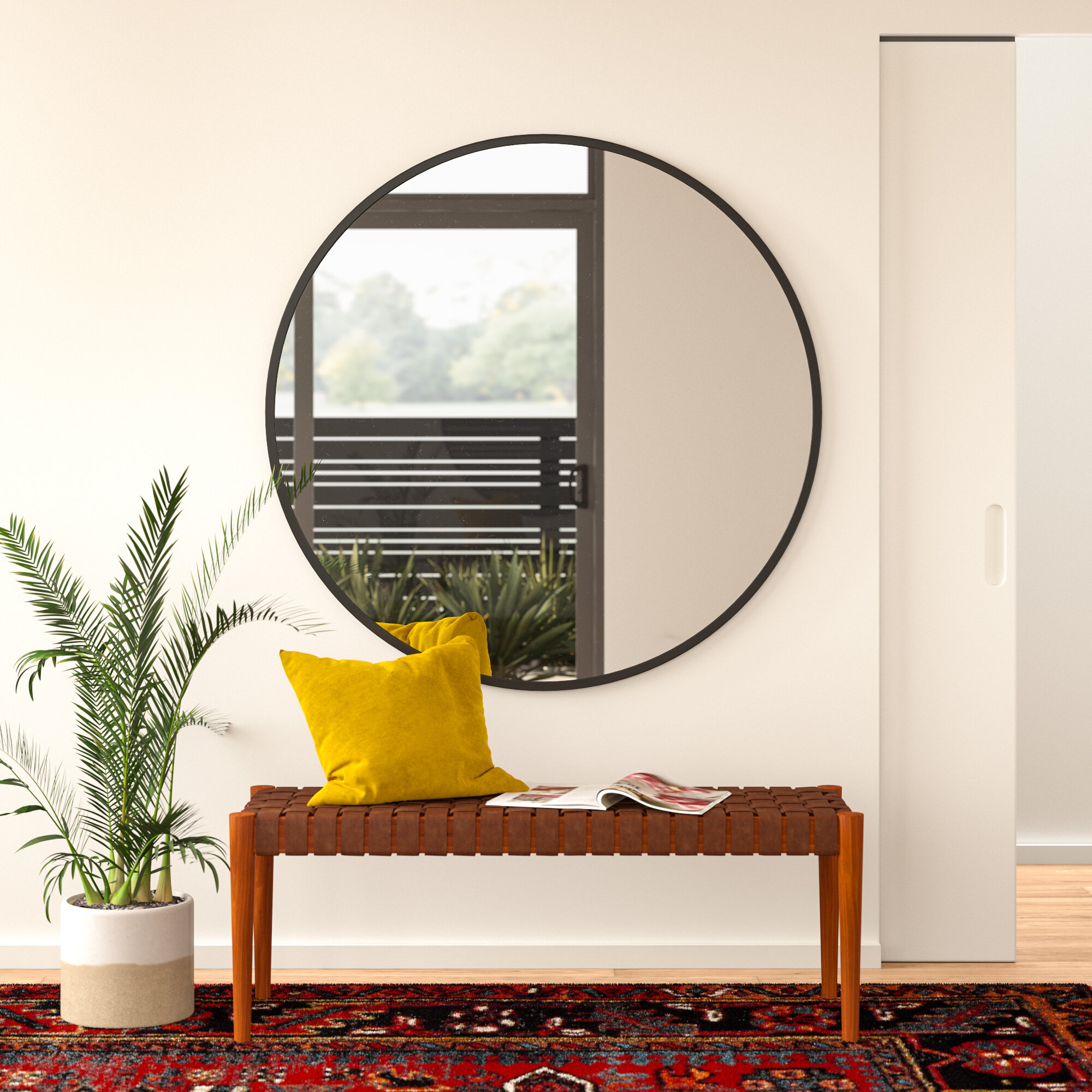 Greyleigh Needville Modern & Contemporary Accent Mirror For Needville Modern & Contemporary Accent Mirrors (Image 2 of 20)