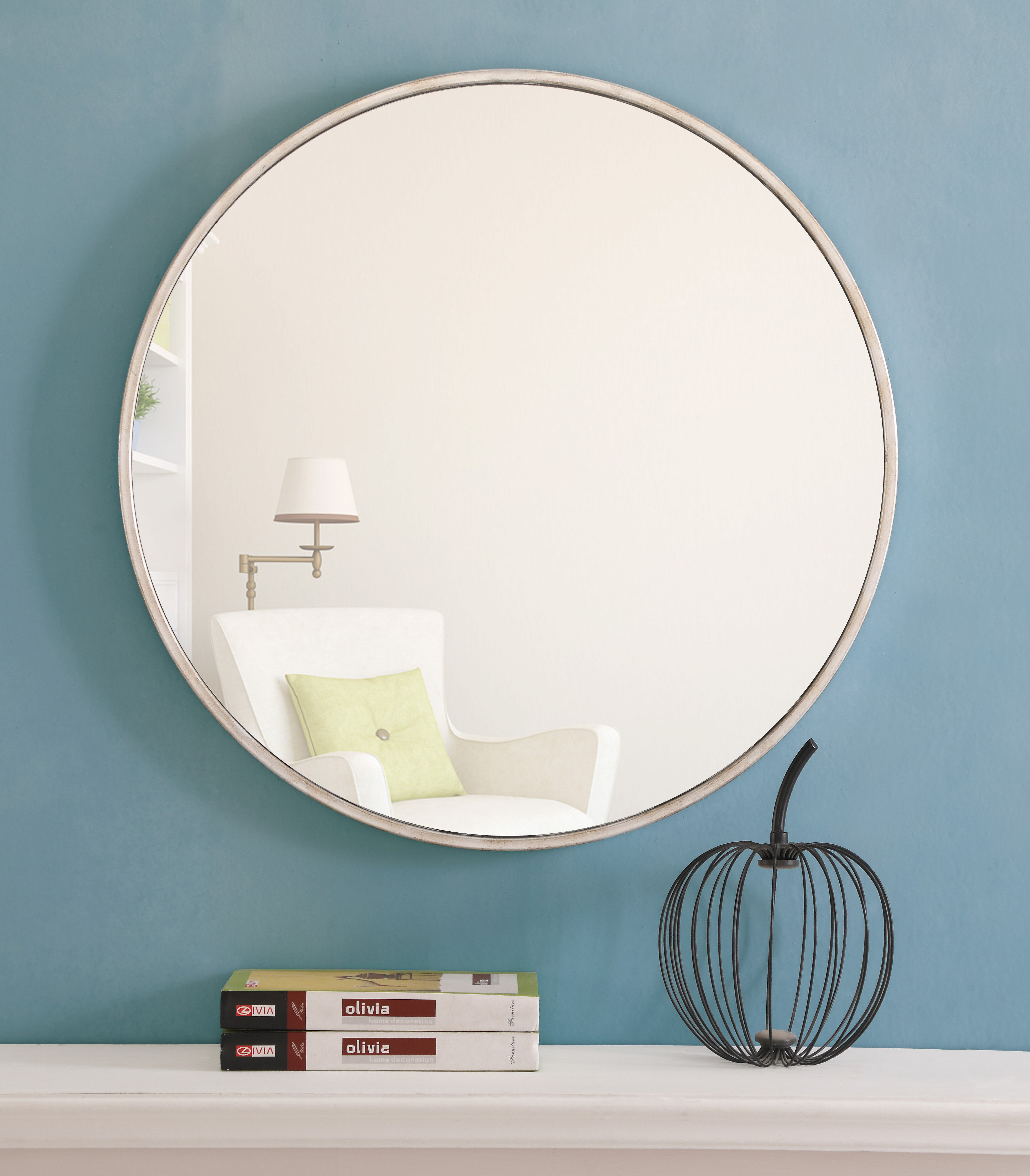 Greyleigh Needville Modern & Contemporary Beveled Accent Mirror With Mahanoy Modern And Contemporary Distressed Accent Mirrors (Image 7 of 20)
