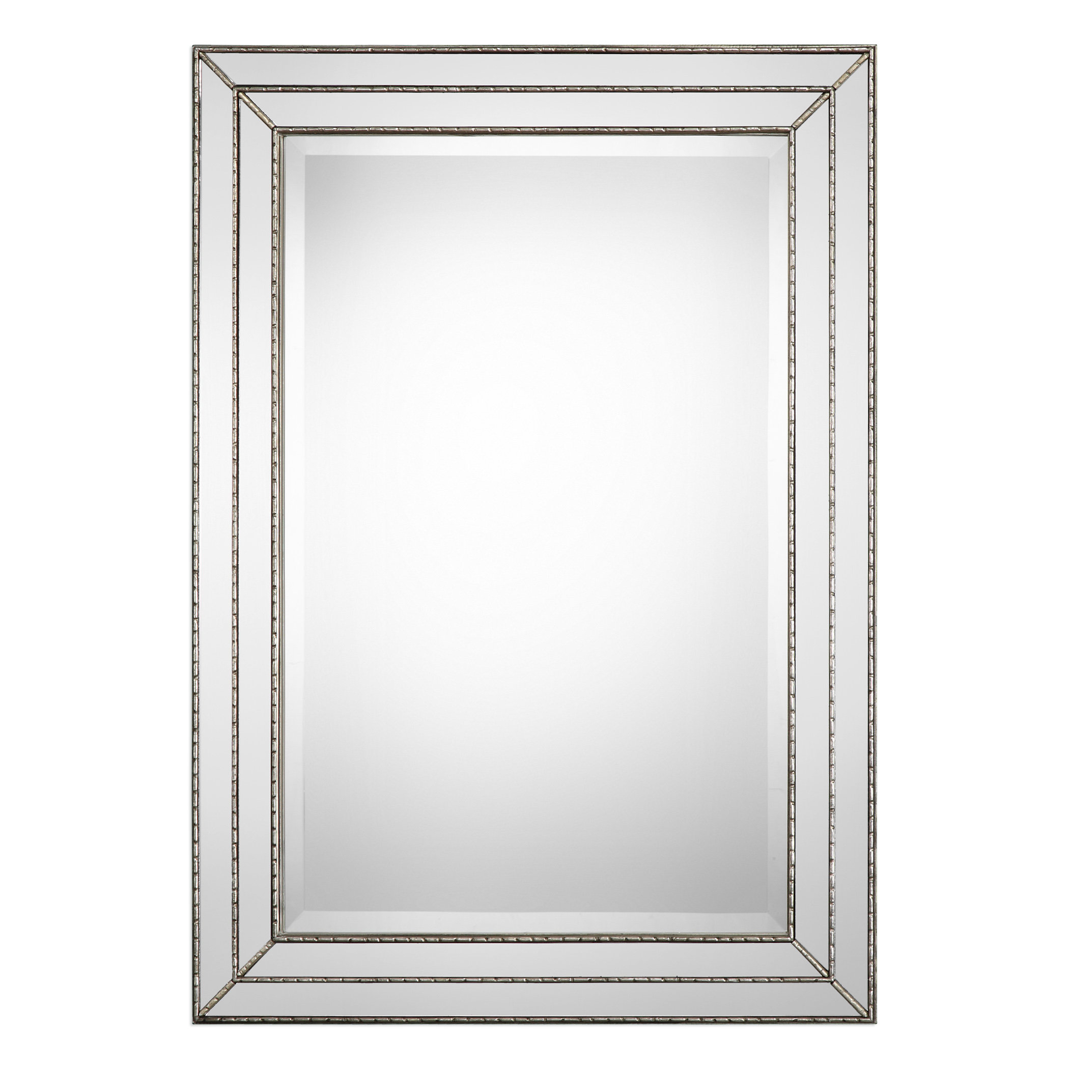 Greyleigh Willacoochee Traditional Beveled Accent Mirror For Alie Traditional Beveled Distressed Accent Mirrors (Image 14 of 20)