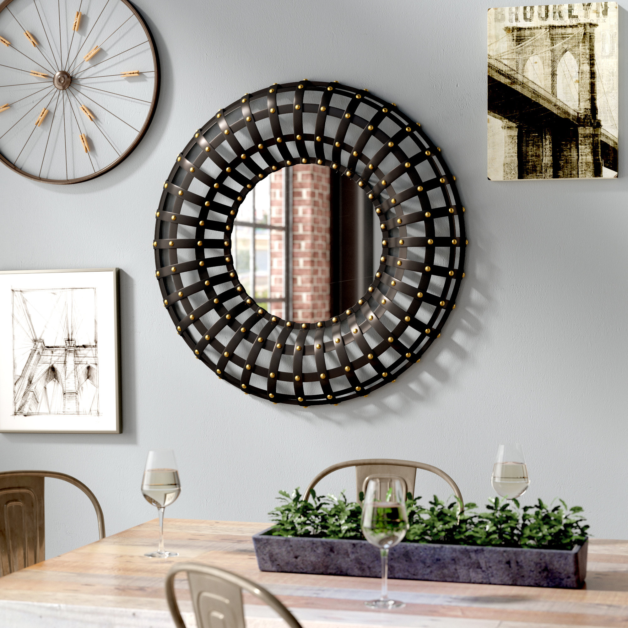 Grid Mirror | Wayfair For Grid Accent Mirrors (Image 7 of 20)