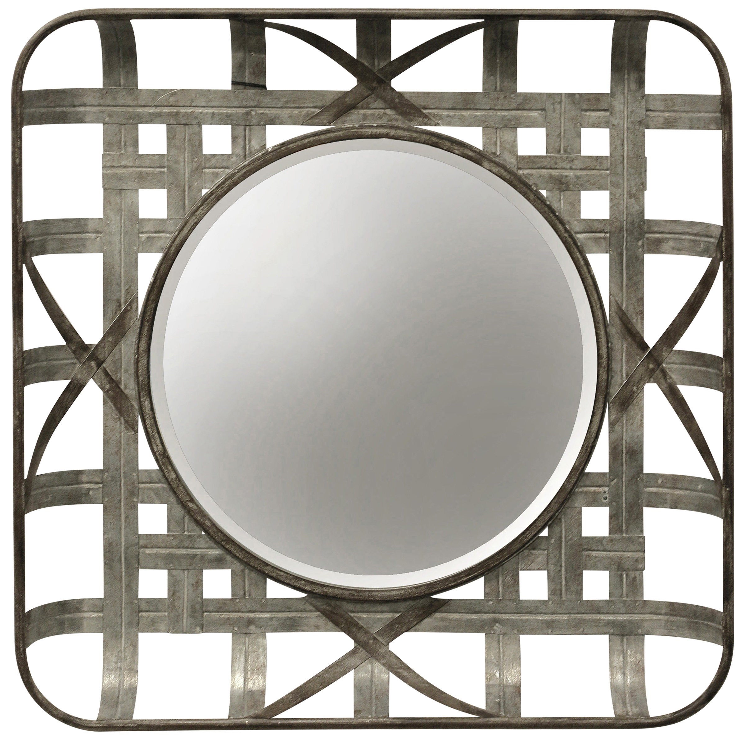 Grid Mirror | Wayfair In Grid Accent Mirrors (Image 8 of 20)