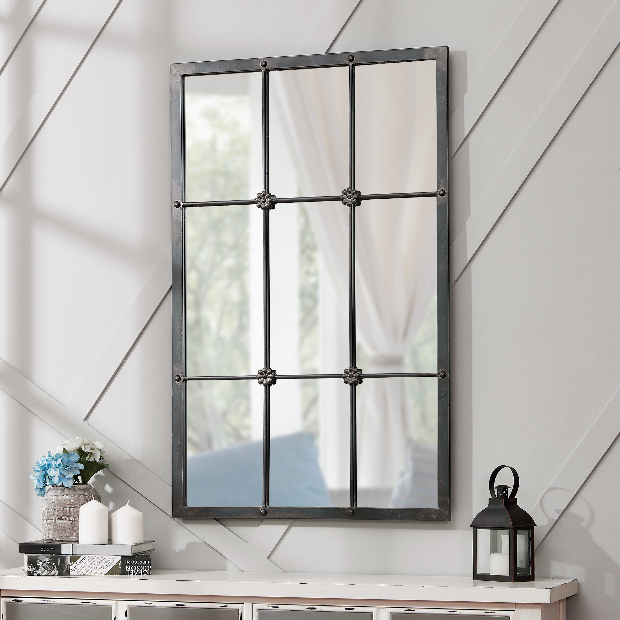 Grid Mirror | Wayfair Pertaining To Grid Accent Mirrors (Image 10 of 20)