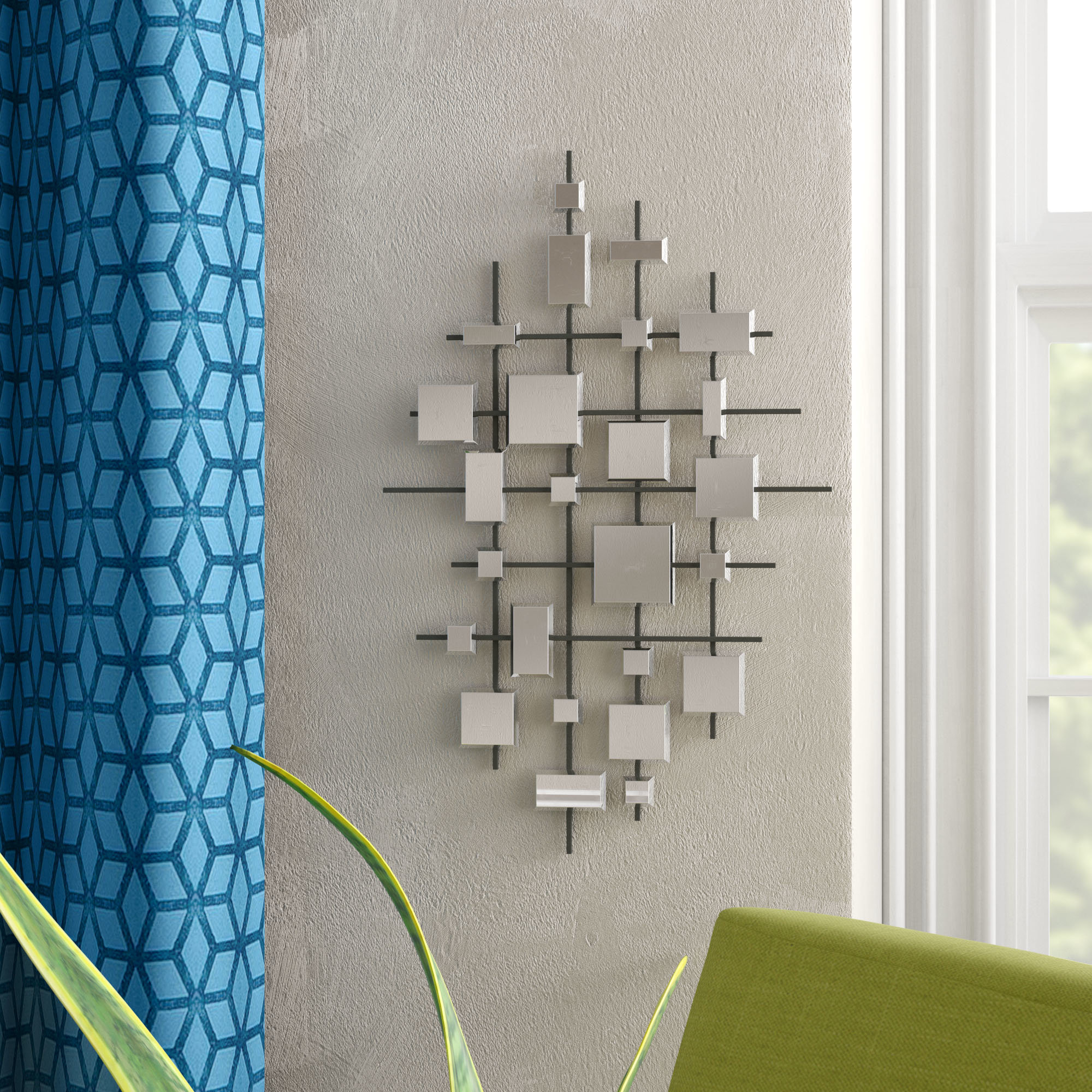 Grid Mirror | Wayfair Within Grid Accent Mirrors (Image 11 of 20)