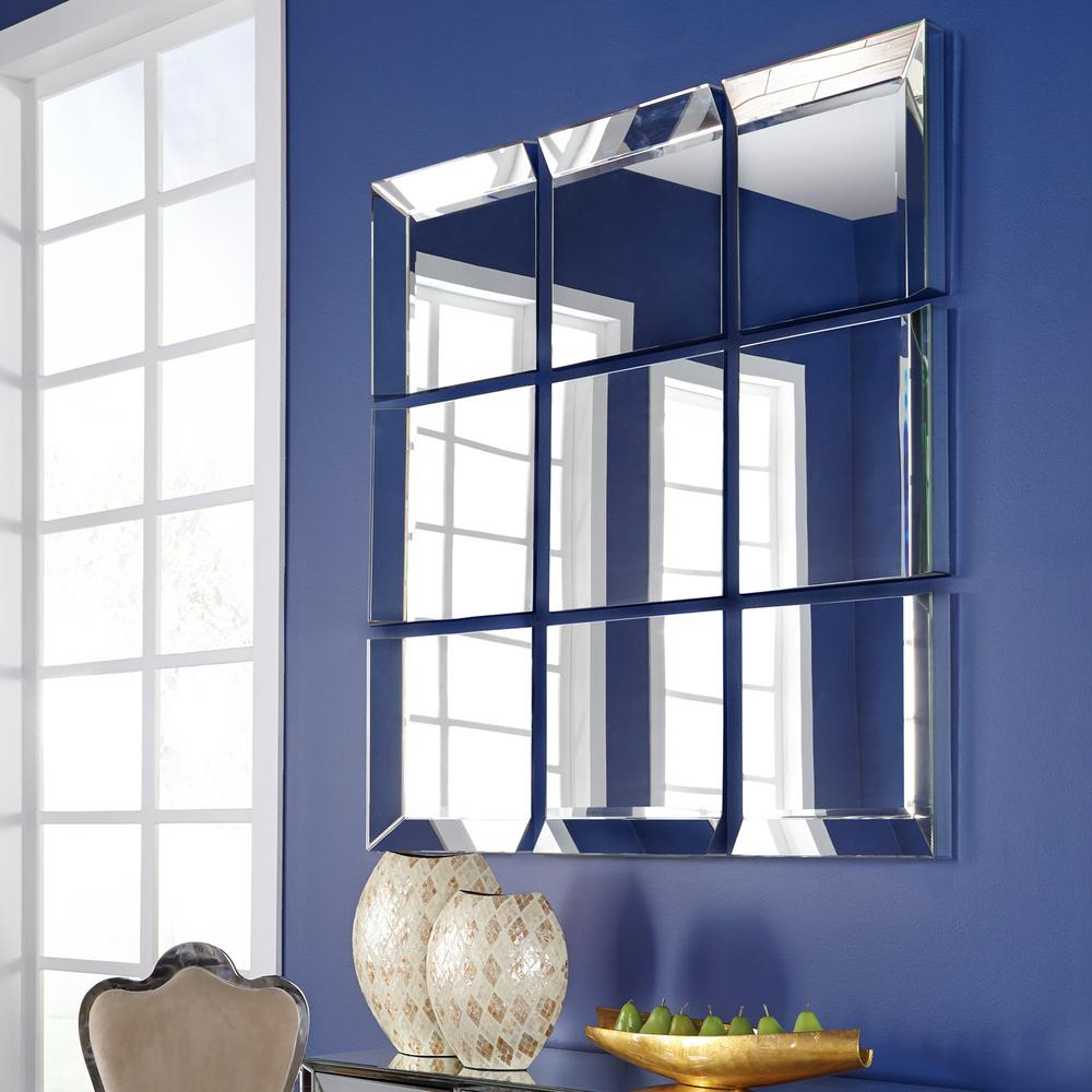 Grid Mirrored Mirror 68075 – The Home Depot Throughout Grid Accent Mirrors (Image 12 of 20)