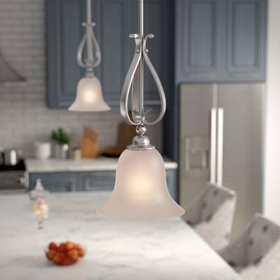 Grullon Scroll 1 Light Bell Pendant In 2019 | Window Regarding Grullon Scroll 1 Light Single Bell Pendants (View 5 of 25)