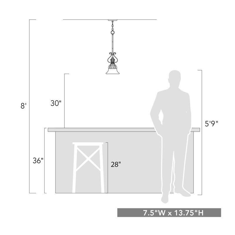 Grullon Scroll 1 Light Single Bell Pendant Throughout Grullon Scroll 1 Light Single Bell Pendants (View 3 of 25)