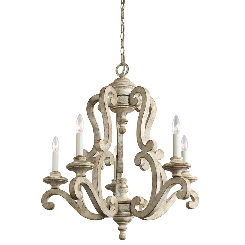 Guglielmo 5 Light Candle Style Chandelier Intended For Corneau 5 Light Chandeliers (View 8 of 20)