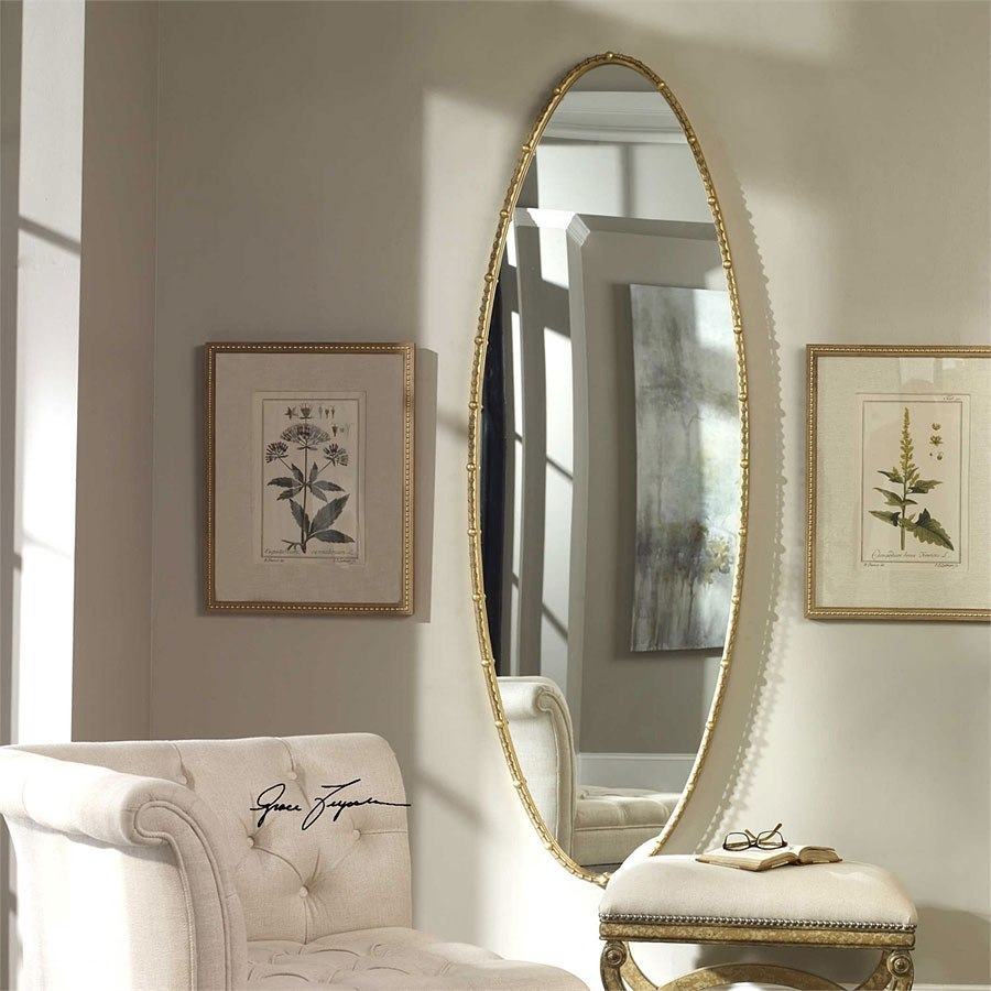 Hadea Oval Mirror Inside Oval Metallic Accent Mirrors (Image 7 of 20)
