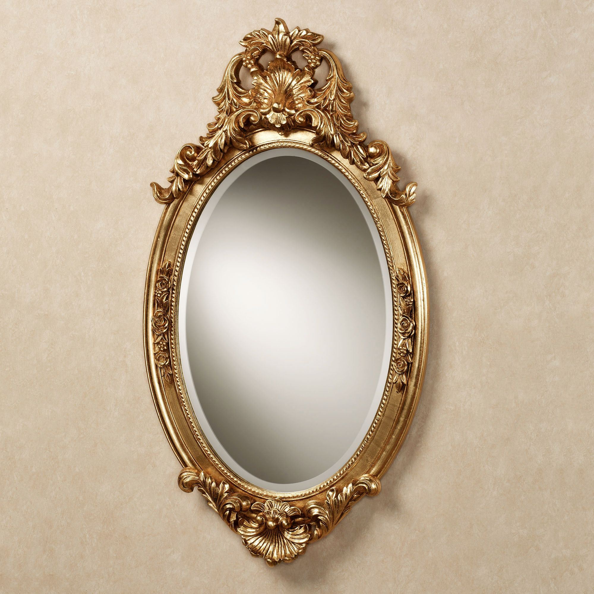 Hallandale Acanthus Leaf Oval Wall Mirror For Traditional Accent Mirrors (Image 4 of 20)