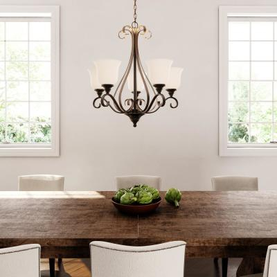 Featured Image of Thresa 5 Light Shaded Chandeliers