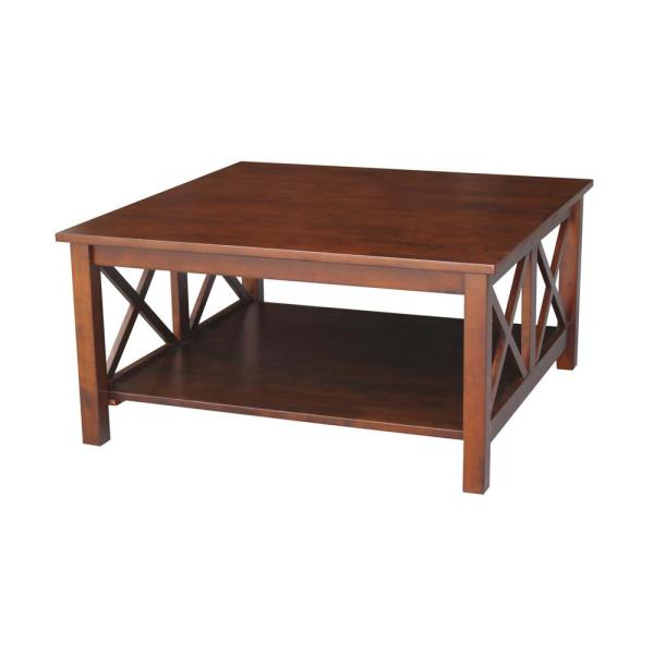 Hampton Espresso Coffee Table In Unfinished Solid Parawood Hampton Coffee Tables (Image 1 of 25)