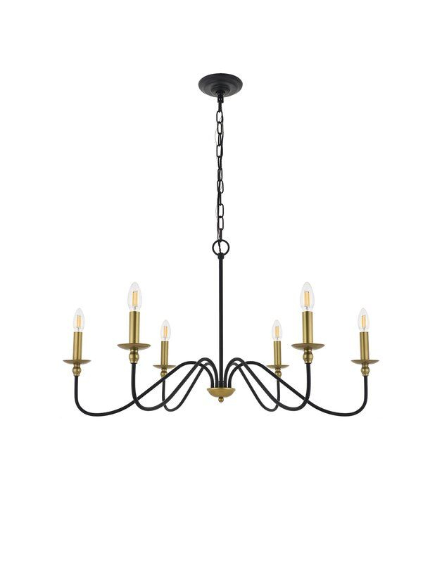 Hamza 6 Light Candle Style Chandelier | Home Decor In 2019 For Hamza 6 Light Candle Style Chandeliers (View 6 of 20)