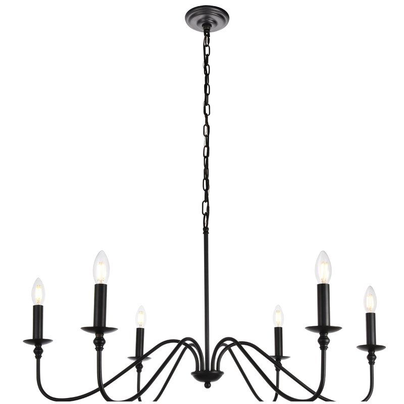 Hamza 6 Light Candle Style Chandelier In Diaz 6 Light Candle Style Chandeliers (Image 16 of 20)