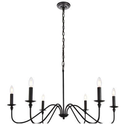 Hamza 6 Light Candle Style Chandelier With Watford 6 Light Candle Style Chandeliers (Image 7 of 20)