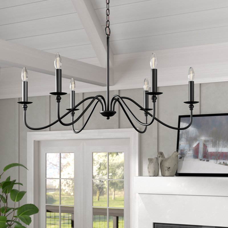 Hamza 6 Light Candle Style Chandelier Within Perseus 6 Light Candle Style Chandeliers (View 5 of 20)
