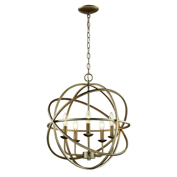 Hankinson 5 Light Globe Chandelier With Regard To Waldron 5 Light Globe Chandeliers (Image 7 of 20)