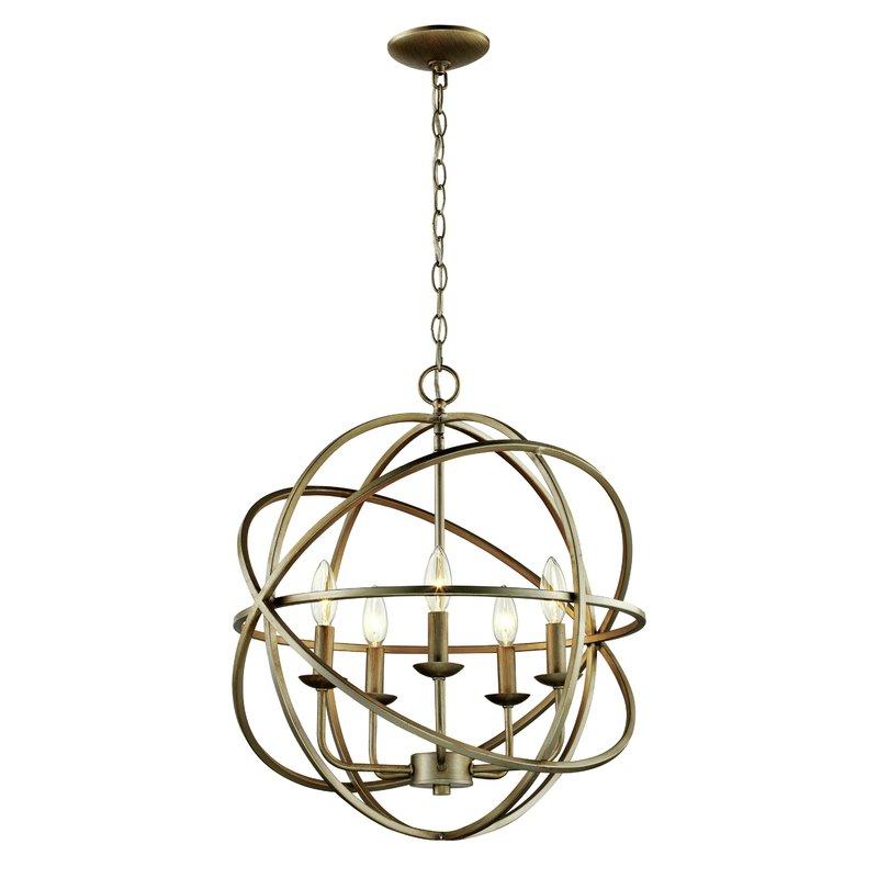Hankinson 5 Light Globe Chandelier With Verlene Foyer 5 Light Globe Chandeliers (View 8 of 20)