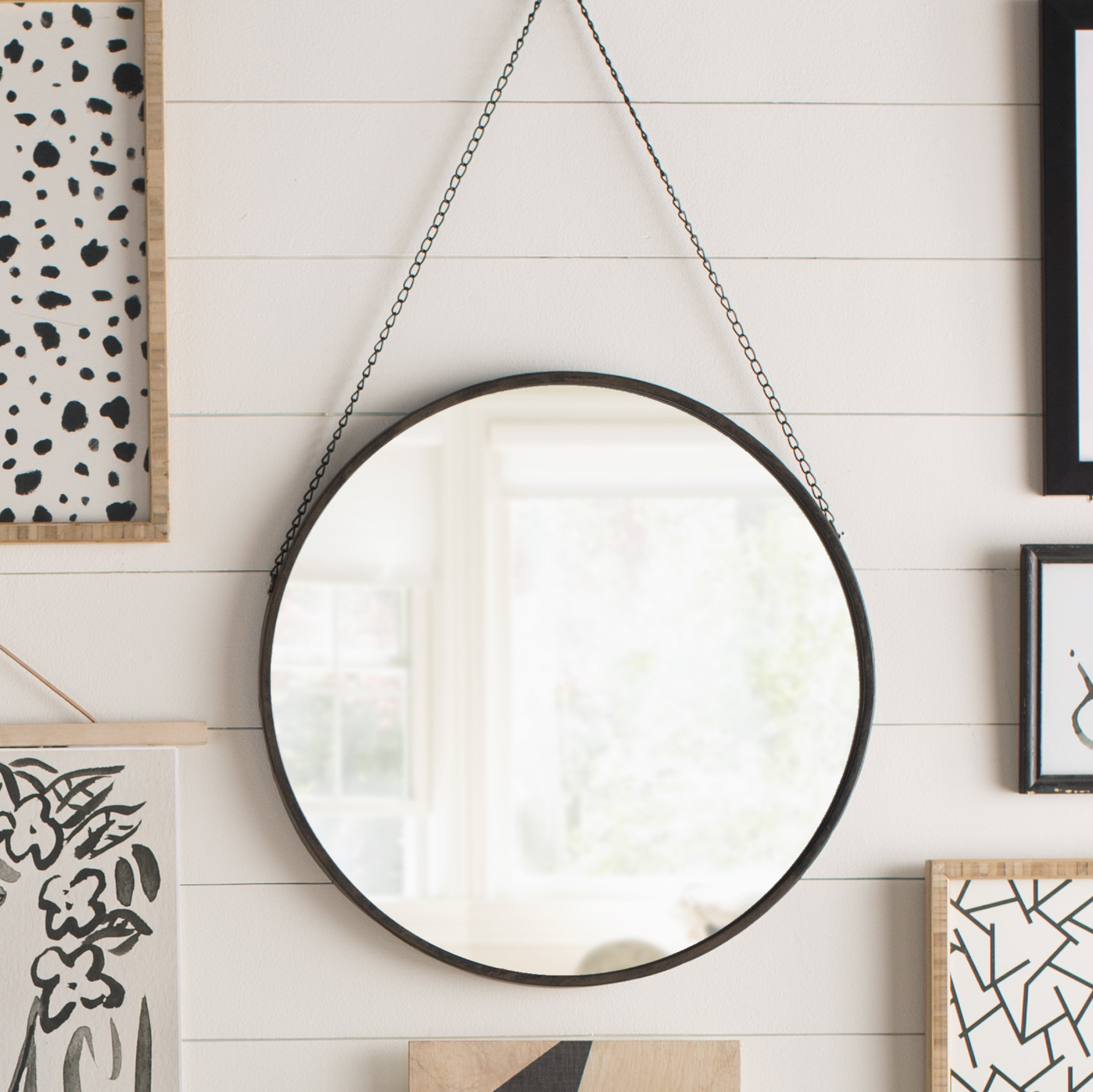 Hardison With Chain Hanger Accent Mirror With Regard To Swagger Accent Wall Mirrors (View 10 of 20)