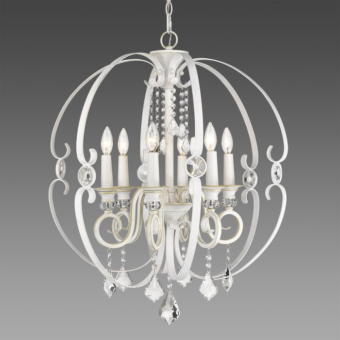 Hardouin 6 Light Globe Chandelier In Alden 6 Light Globe Chandeliers (View 16 of 20)