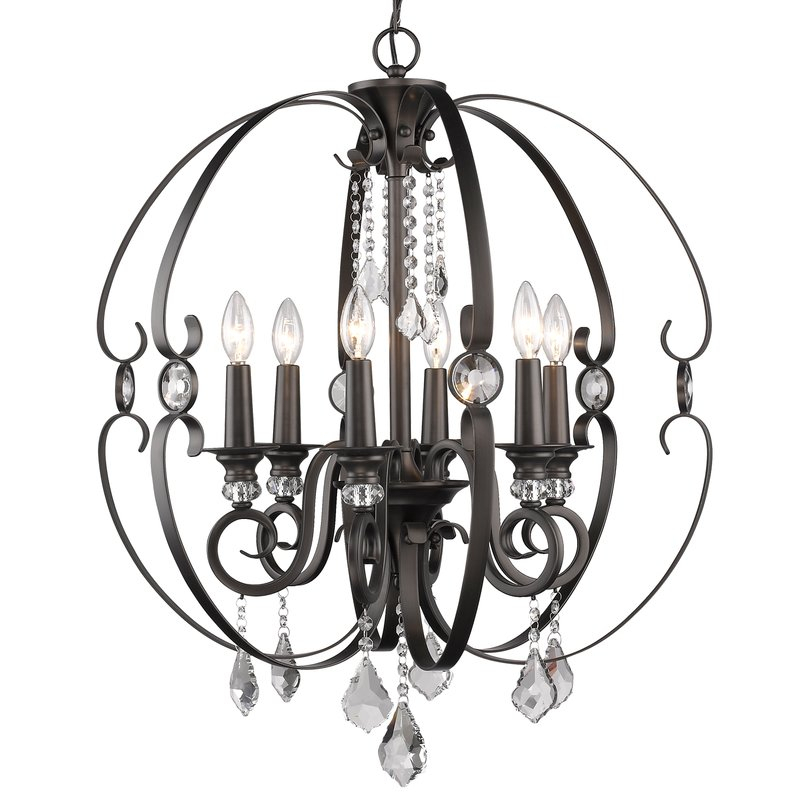 Hardouin 6 Light Globe Chandelier Pertaining To Alden 6 Light Globe Chandeliers (View 12 of 20)