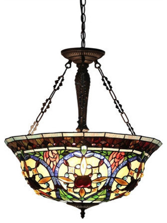 Harlan 3 Light Victorian Inverted Ceiling Pendant Inside Harlan 5 Light Drum Chandeliers (Image 8 of 20)