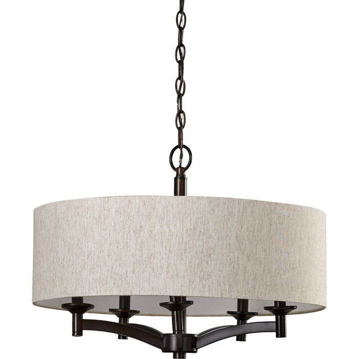 Harlan 5 Light Drum Chandelier In 2019 | For The Home | Drum In Harlan 5 Light Drum Chandeliers (Image 11 of 20)