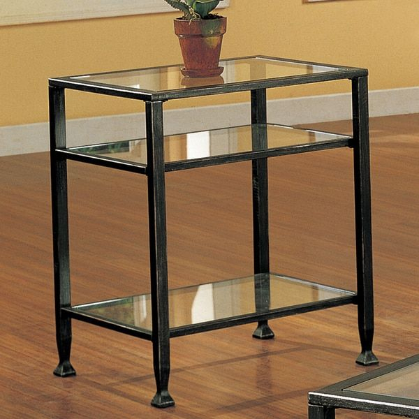 Harper Blvd Bunch Metal Glass End Table | Overstock With Harper Blvd Alecia Coffee Cocktail Tables (Image 10 of 25)