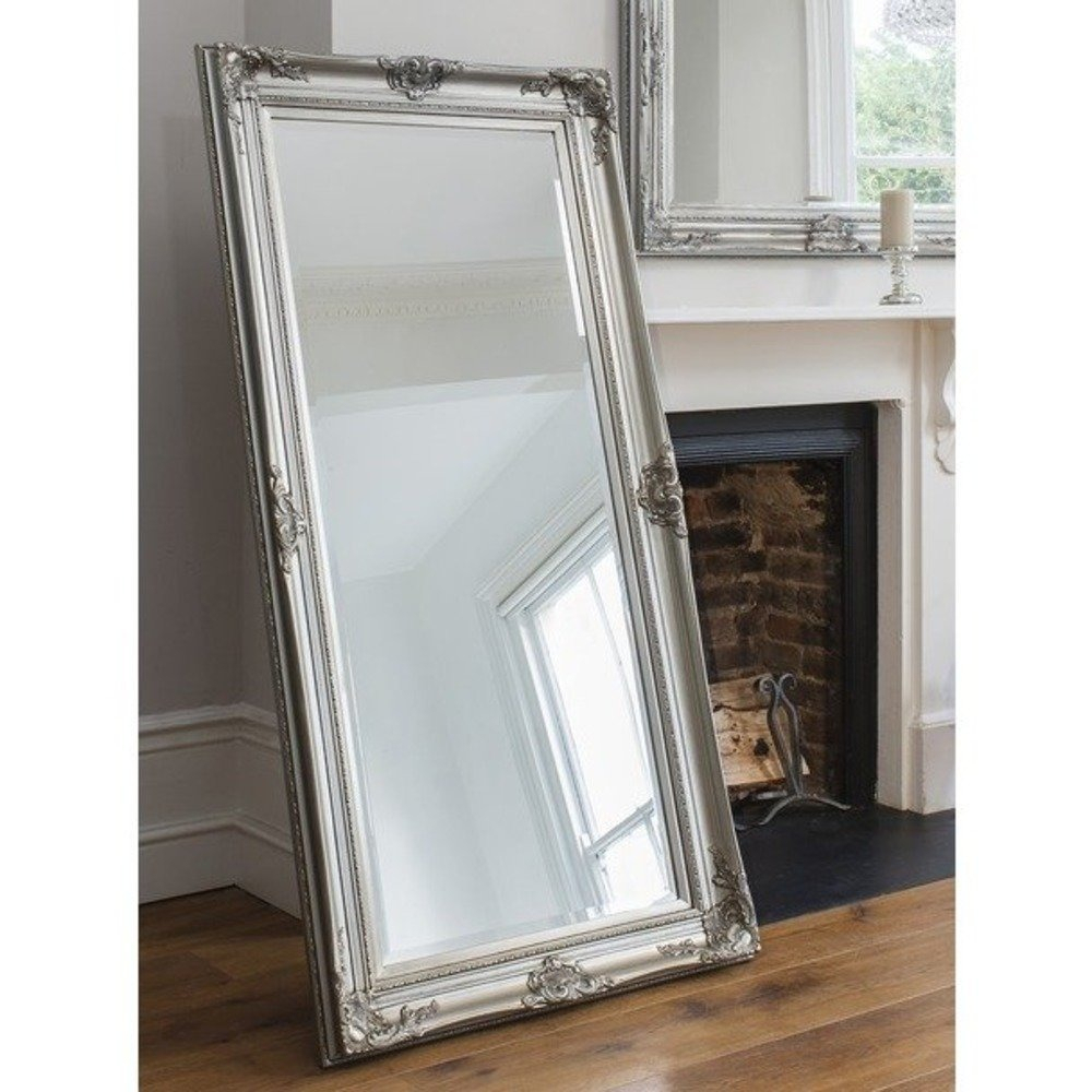 Harrow Leaner Mirror – Antique Silver With Leaning Mirrors (View 6 of 20)