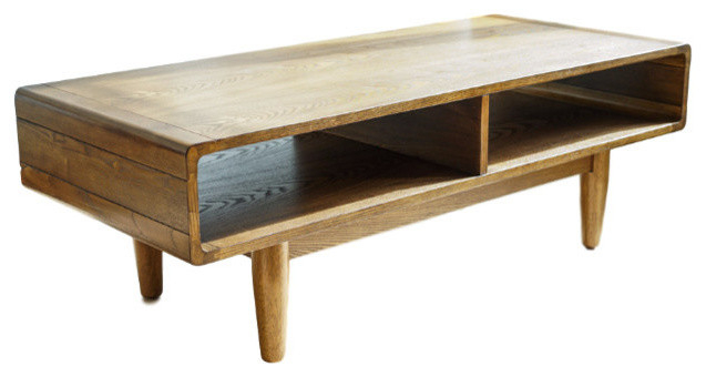 Haven Home Dexter Mid Century Coffee Table, Deco Walnut With Kisper Rectangular Cocktail Tables (Image 13 of 48)