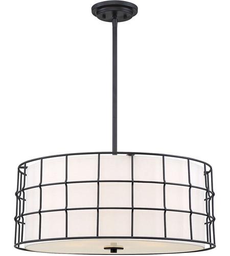 Hayden 5 Light 25 Inch Matte Black Pendant Ceiling Light With Hayden 5 Light Shaded Chandeliers (Image 10 of 20)