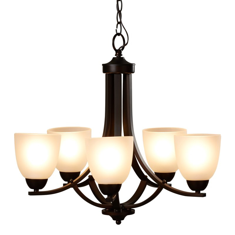 Hayden 5 Light Shaded Chandelier With Regard To Crofoot 5 Light Shaded Chandeliers (View 5 of 20)