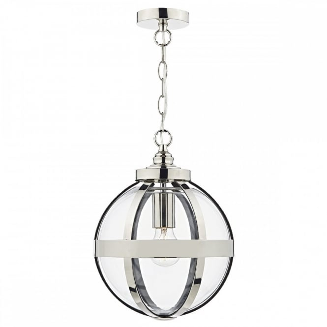 Heath Polished Nickel And Glass Globe Ceiling Pendant With 1 Light Geometric Globe Pendants (Image 17 of 25)