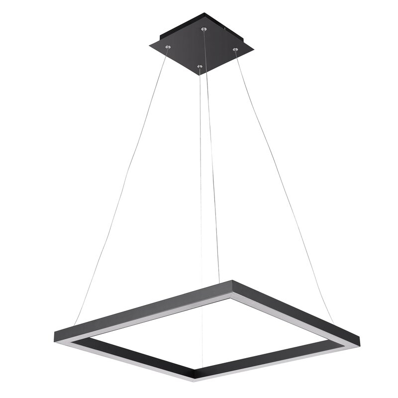 Heflin 1 Light Led Single Square Pendant Inside Callington 1 Light Led Single Geometric Pendants (View 10 of 25)